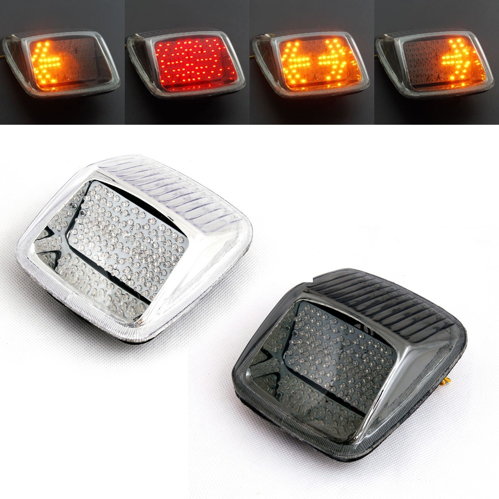 Areyourshop pour Harley V-ROD tige de nuit tige de rue 2002-2011 feu arrière + clignotants fumée claire voiture Auto lumière accessoires