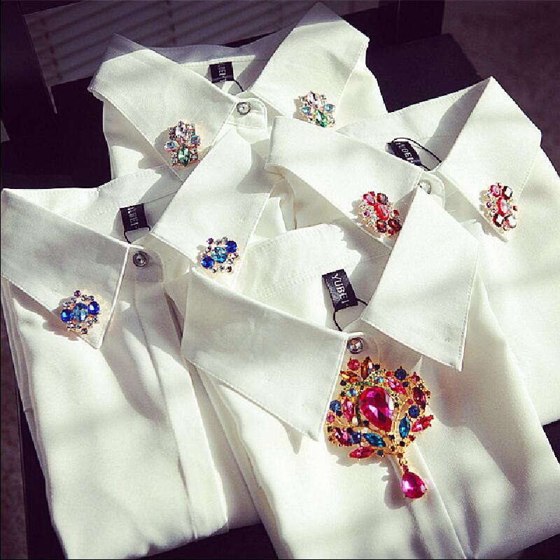 White Womens Tops Blouses