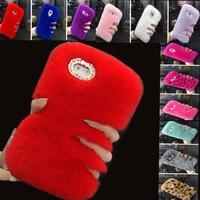 New Warm Fluffy Villi Fur Plush Wool Bling Case Cover For Samsung Galaxy J1 2016 J120