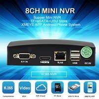 Newest 8CH MINI NVR CCTV NVR Network H.265 5MP video Recorder for CCTV Camera IP Camera Cloud P2P eSATA TF USB Remote Control