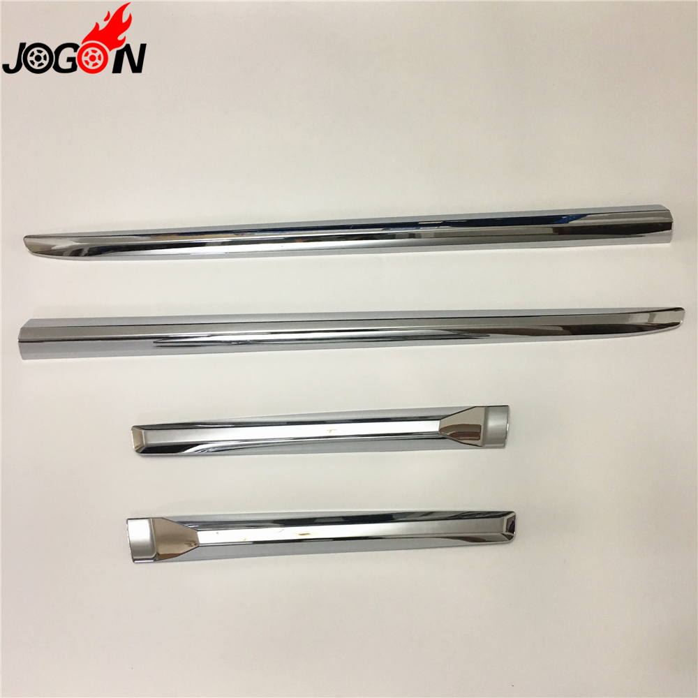 For Toyota Prado FJ150 LC150 2018 ABS Chrome Door Body Side Trim Cover Molding