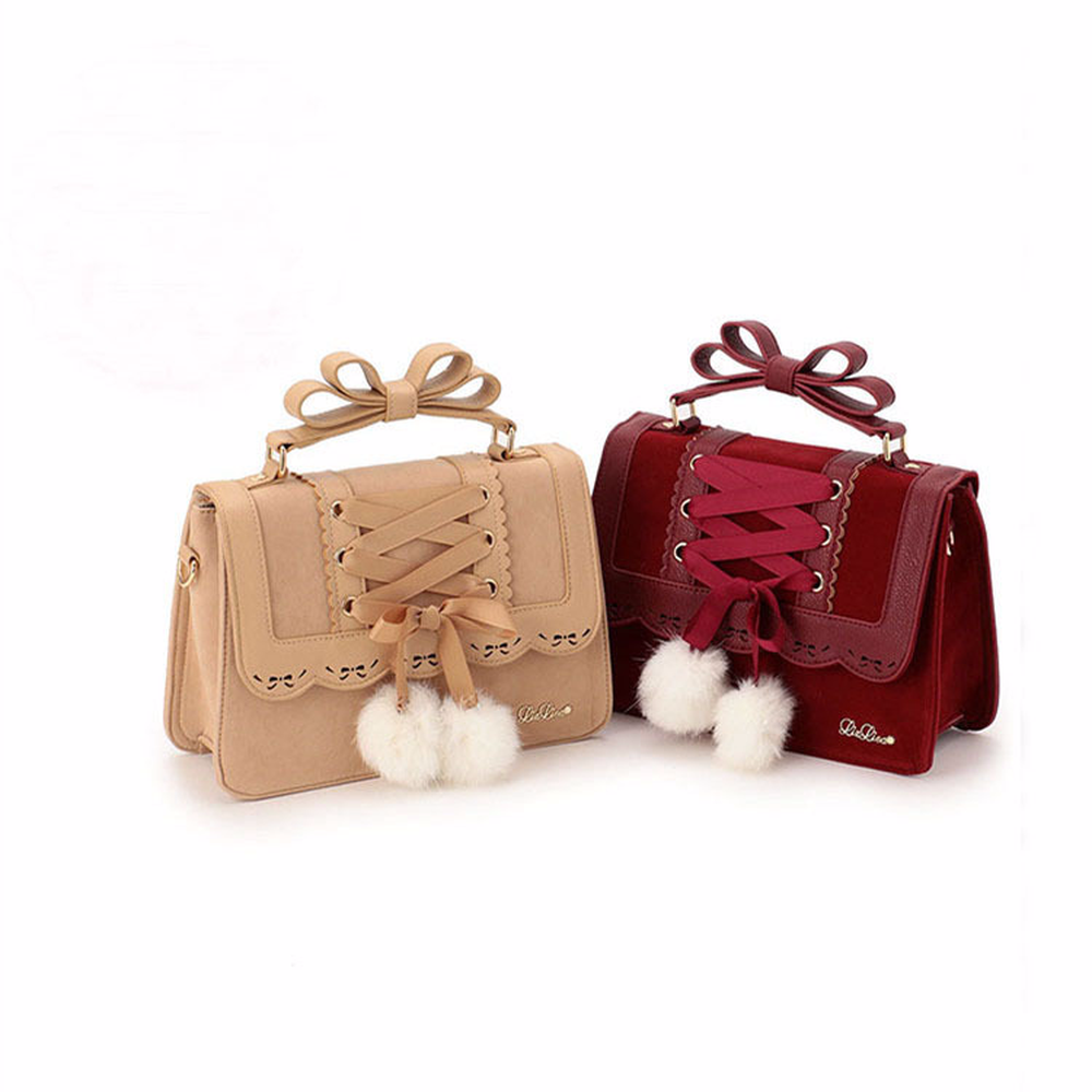 Women New Autumn and Winter Rex Rabbit Fur Ball Decoration Shoulder Bag Small Bag Free Shipping