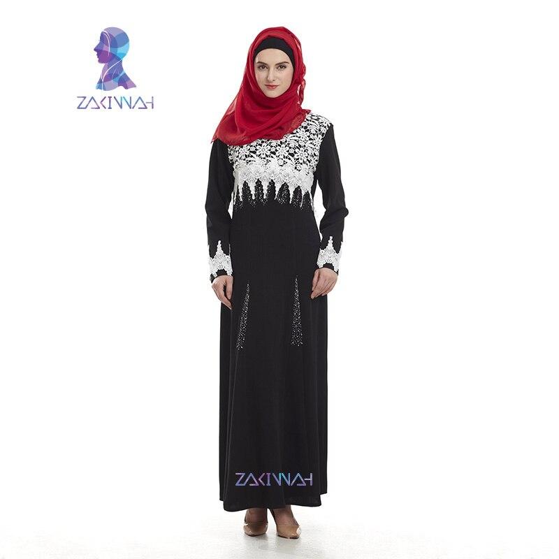 جديد إمرأة دبي العباءة الملابس الإسلامية الدانتيل طويلة التركية الملابس الأزياء مسلم فساتين زائد الحجم قفطان العبايات للنساء الكبار