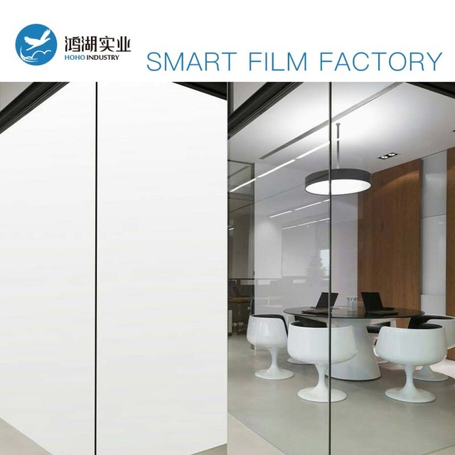 200mmx200mm White Sample Smart Film Self-adhesive Switchable sample Opaque/Transparent Home Office Use