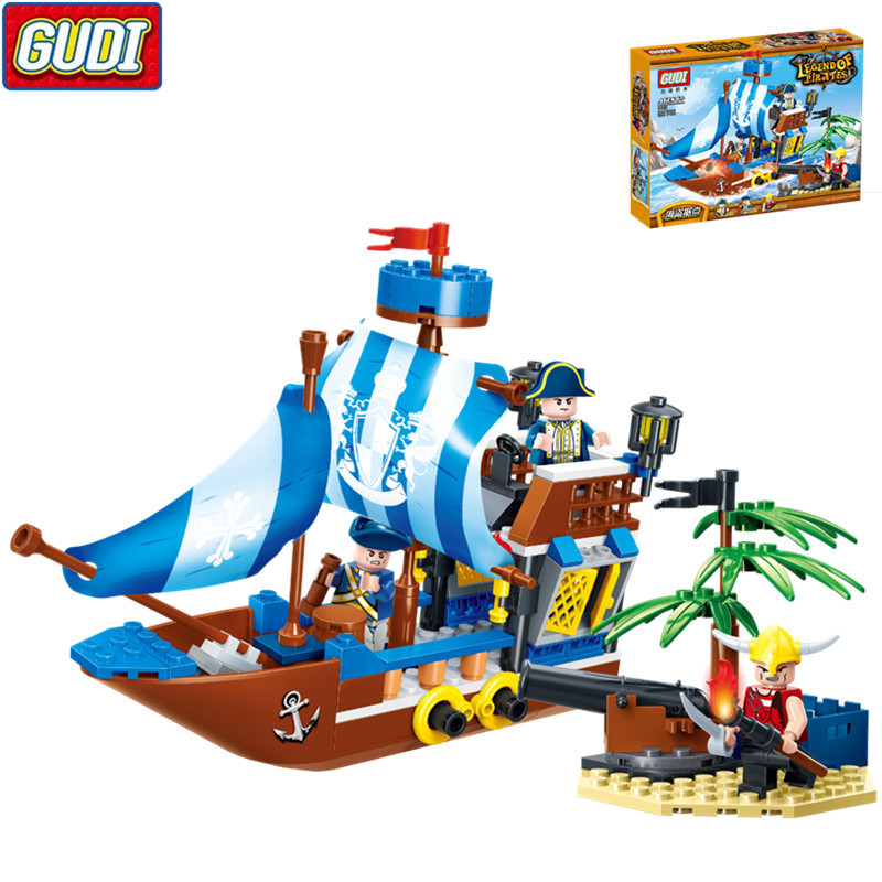 Pirates Stronghold Brick 200pcs Bounty Pirate Ship Building Blocks Christmas Gifts font b Toys b font