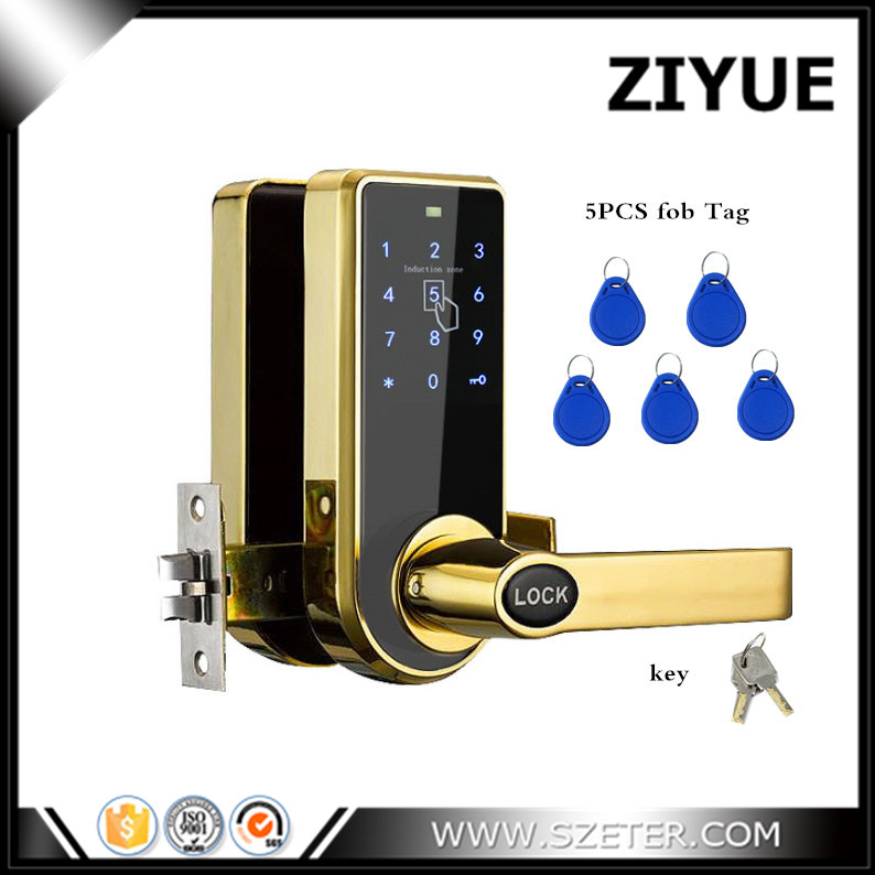 Spring Bolt Smart Combination Keyless Digital Keypad Password Code Number Electronic Door Locks for Home Office Apartment keyless digital lock keypad password code spring bolt access electronic door locks l