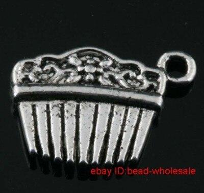 OMH wholesale Free Shipping 25pcs tibet silver comb charm pendants 18x12mm DZ263