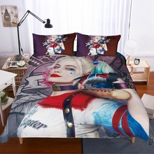 Suicide Squad 3D printing bedding set Harley Quinn comforter bedding sets duvet cover AU EU AU GB  21 Size bedclothes bed linen