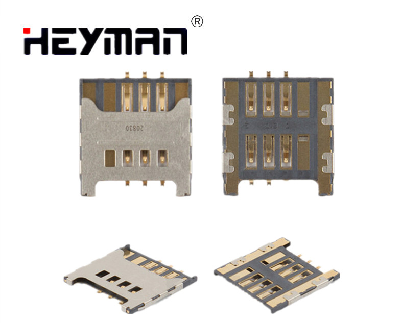 Heyman SIM Card Connector for Samsung Galaxy S C3750 C3350 C3530 C3222 C3752 E1050 E1230 E1232 E2222 E2530 E2600/2652