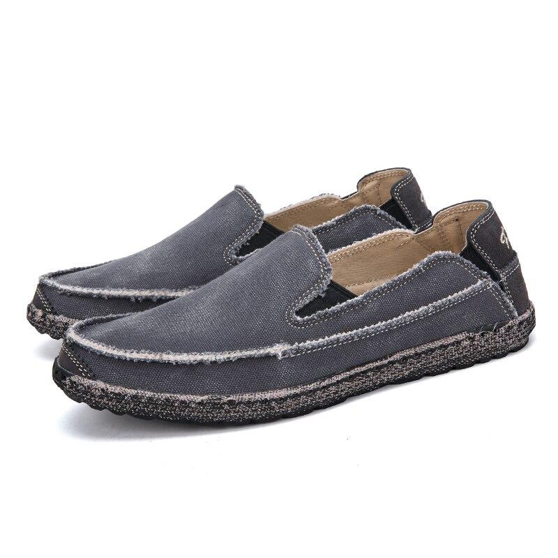 Flats Ao Respirável Preguiçosos Preto Casuais 39 cáqui Condução E Homem Size Ar De Livre Lona azul Confortável Mocassins cinza Macio Homens Sapatos Plus 47 qtY0O