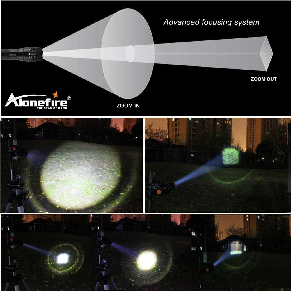 עוצמה G700 פנס Cree XML T6 L2 led אלומיניום עמיד למים זום קמפינג לפיד טקטי אור AAA 18650 נטענת סוללה