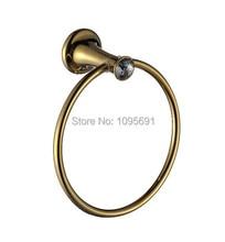 MAIDEER роскошный элегантный золотой кристалл + латунь кольцо полотенца полотенце держатель для ванной вешалка для полотенец аксессуары для ванной комнаты
