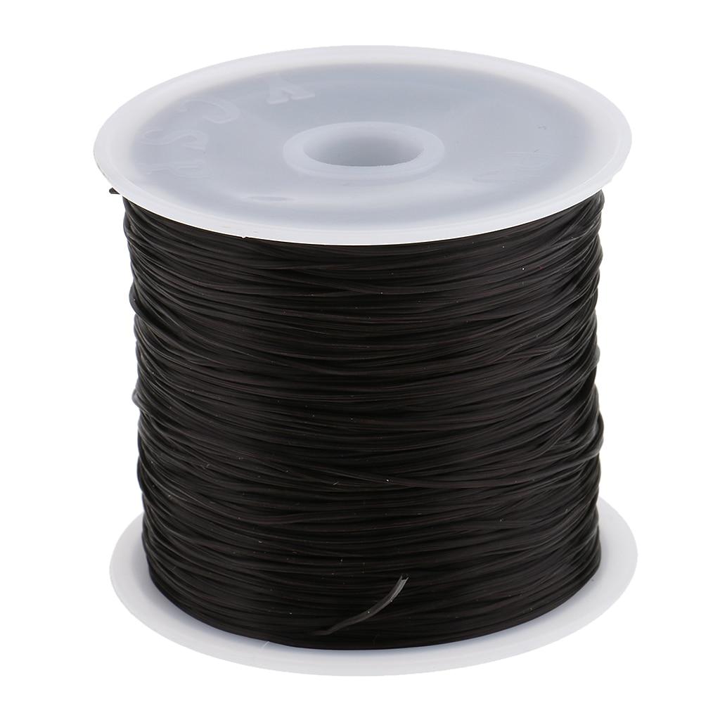 60M Salon Crystal Elastic String for Hair Thread Making Weaving Wigs for Hair Extension Attaching Thread Black