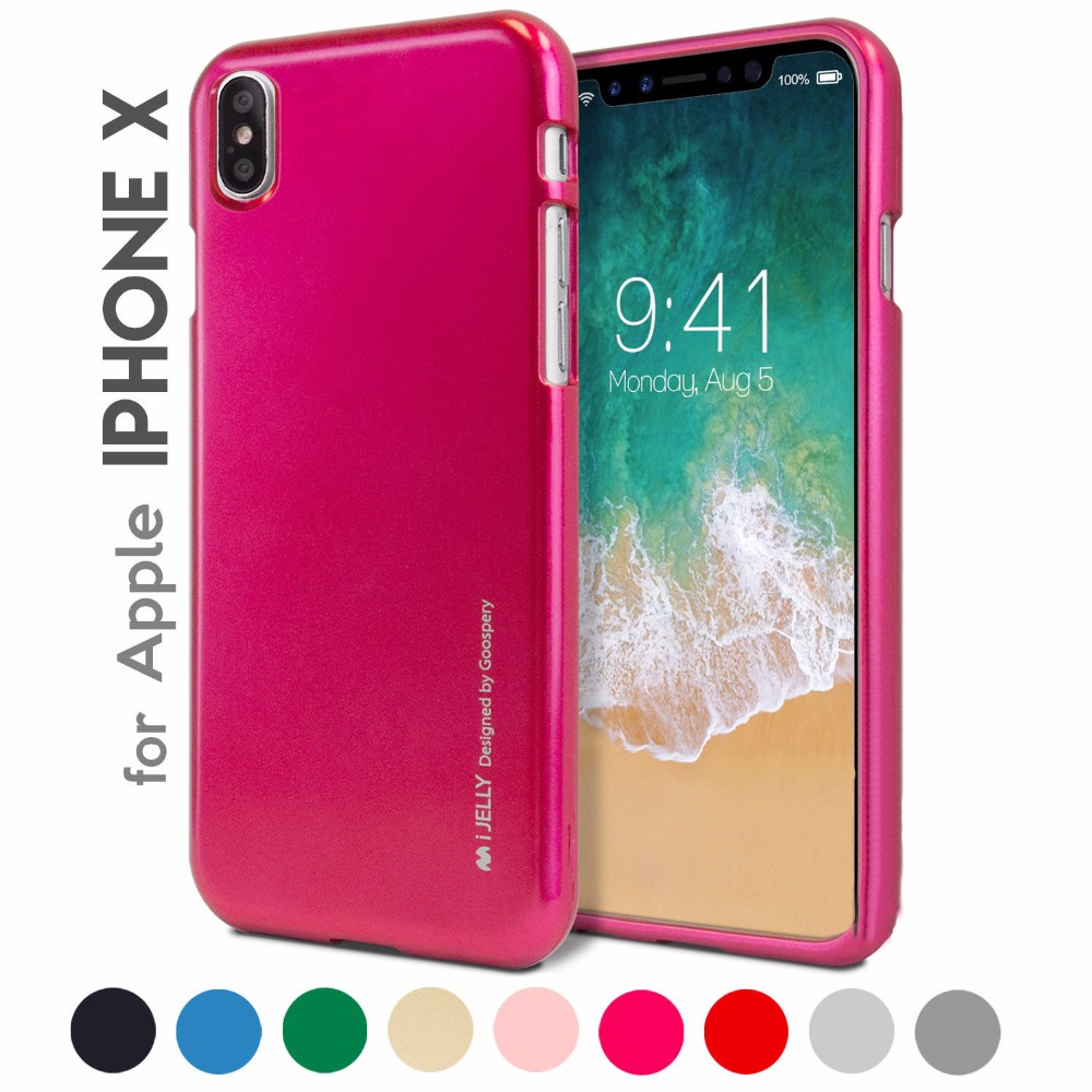 Mercury Goospery I Jelly Tpu Bumper Case Slim Metallic Cover For Iphone 8 Milano Diary Pink 4 4s 5 5s Se 6 6s 7 Plus X In Half Wrapped From Cellphones