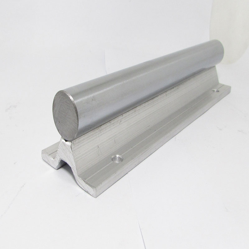 1PC SBR12 linear guide rail length 300mm chrome plated quenching hard guide shaft for CNC 1pc sbr20 linear guide rail length 300mm chrome plated quenching hard guide shaft for cnc