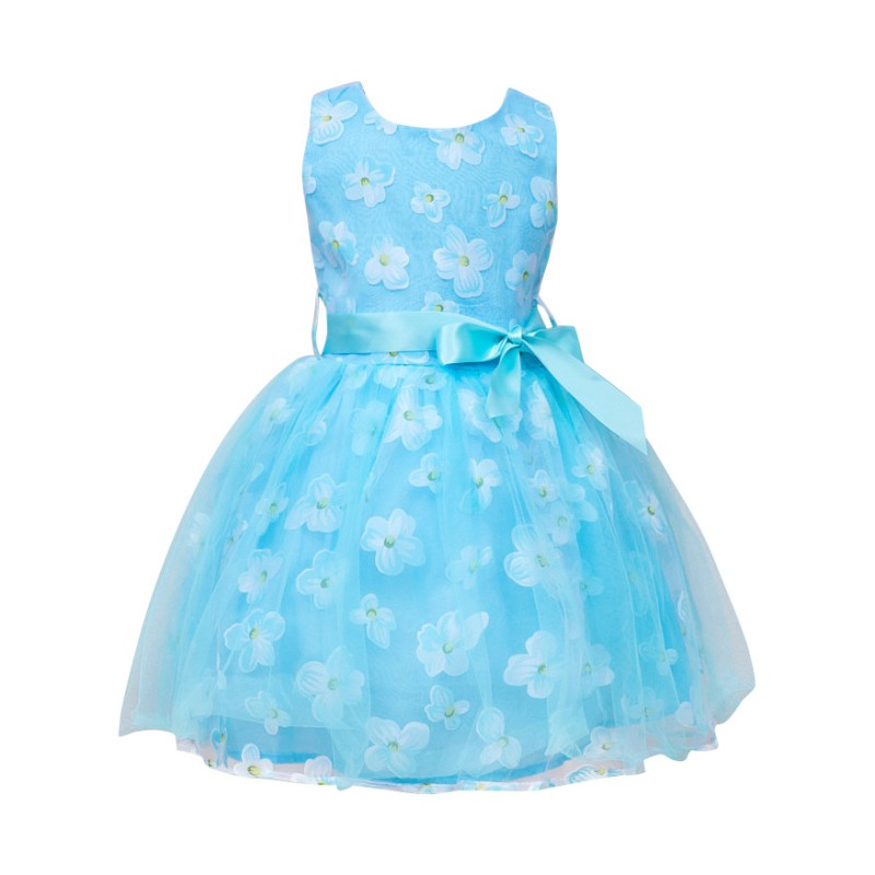 Sweet Girl Floral Print Tutu Dress Summer 2017 Kids Costume Children Clothes Girls Beautiful Lace Party Dresses for Age 2-7Y H2 pettigirl girls clothes set golden silk floral summer skirt with coat for girl kids costume cs90324 724f