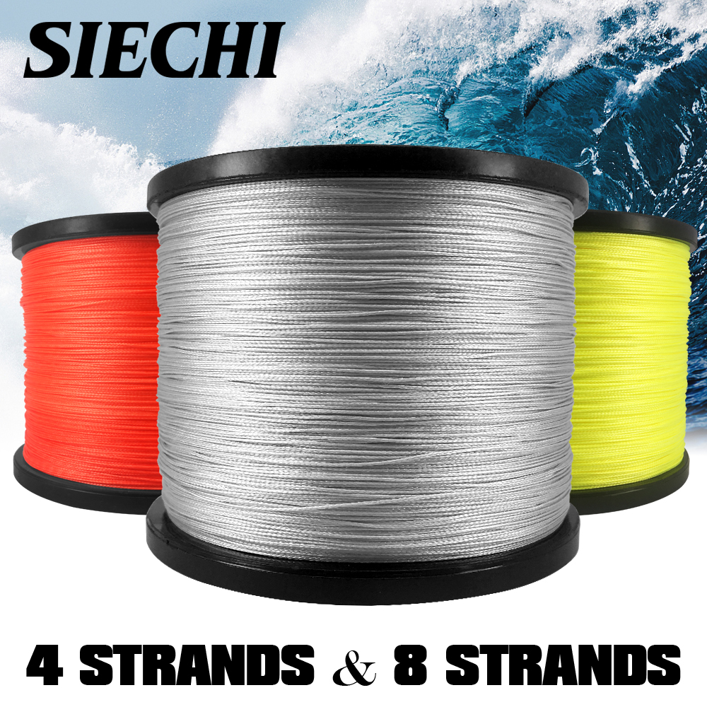 SIECHI Fishing 4 Strands 8 Strands 1000M PE Braided Fishing Line Saltwater Weave Carp Fishing Cord Pesca Wire
