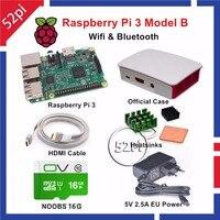 Raspberry Pi 3 Model B Starter Kit With Official Case 16GB NOOBS 5V 2 5A EU