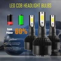 H7 LED COB 헤드 라이트 전구 110W 12000LM 6000K 슈퍼 밝은 높은 전원 검은 자동차 조명