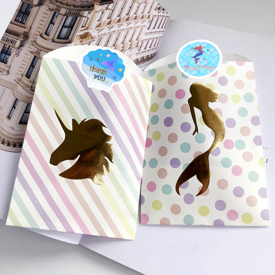 Mermaid party stickers (7)