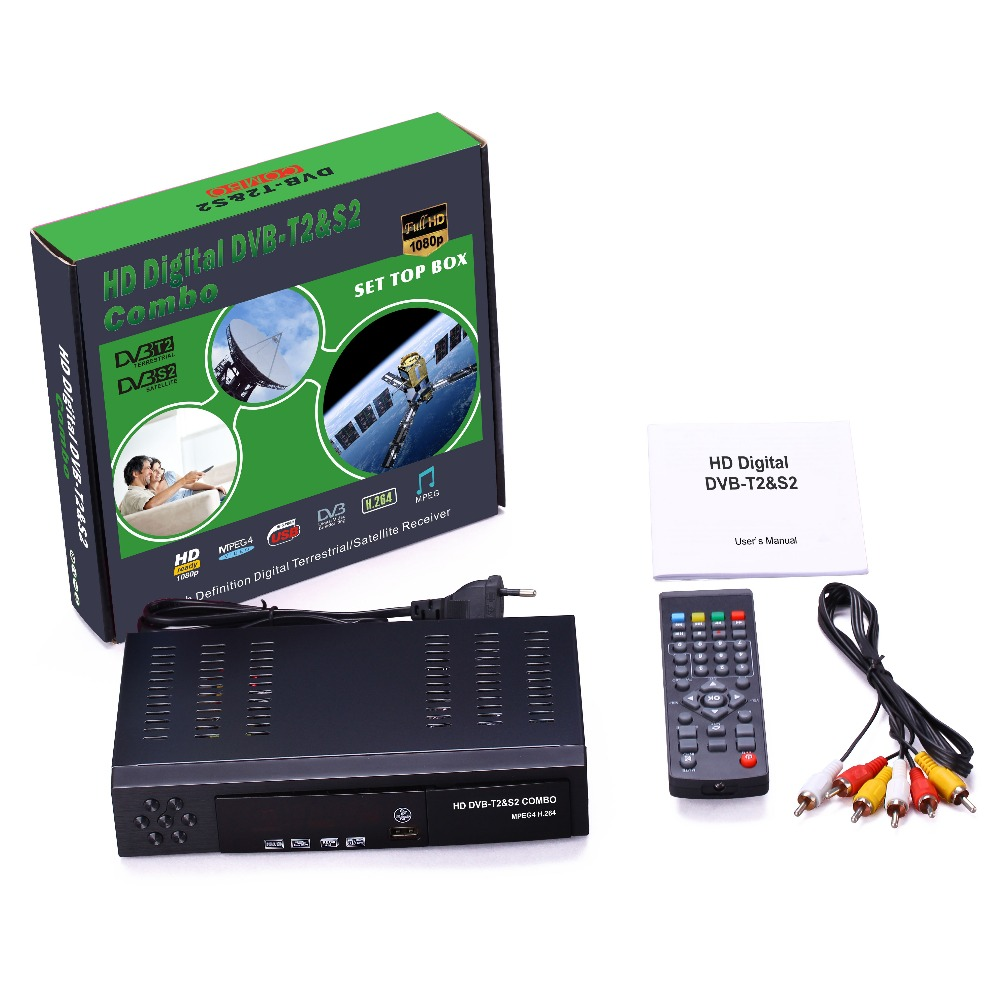 Caiwei Home Use Dvb T2 Projector Led Lcd Digital Tv: Combo DVB T2 & S2 HD Satellite Receiver TV Receivers Set