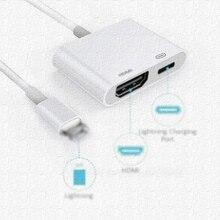 Для iPad к HDMI адаптер для Lightning к цифровому AV HDMI 4 к Кабельный разъем USB 1080 P HD адаптеры для сим-карт для Iphone X 8/7/6/Ipad Air