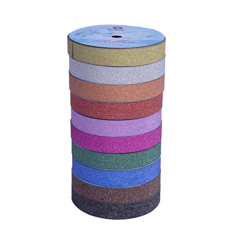 Блестящая лента PP Материал 1,6/3/5 см с металлическими блестками Лента для принадлежности для шитья Рождество Свадебная вечеринка украшения 10 м/рулон