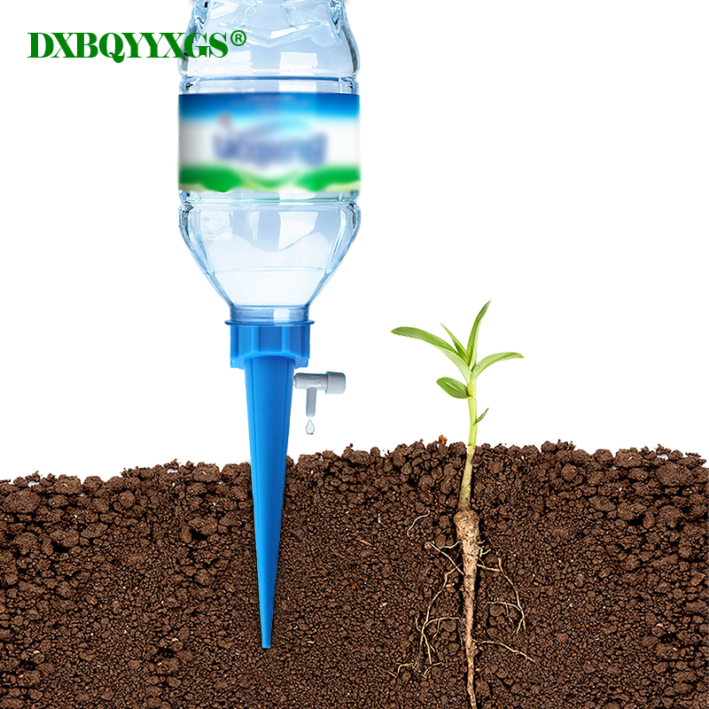 100% Quality 8/12pcs Automatic Watering Device Garden The New Water Flow Adjustment Plant Drip Irrigation Tools Lazy Man Watering Flowers Kit