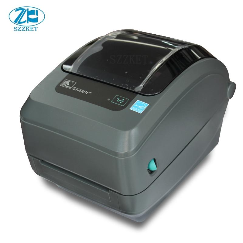Nouvelle imprimante thermique de codes barres d'origine pour imprimante de codes barres de bureau zebra GX420T imprimante d'étiquettes 203 dpi transfert thermique printerGX420