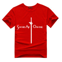 Hot Sale Anime Sword Art Online T Shirt Short Sleeve Unisex T-shirt Cosplay Teenager Cartoon Clothes Lover Cotton Casual Costume