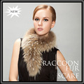 2014 Fashion Genuine raccoon fur scarf Can used as hood trim  Winter scarves for men and women