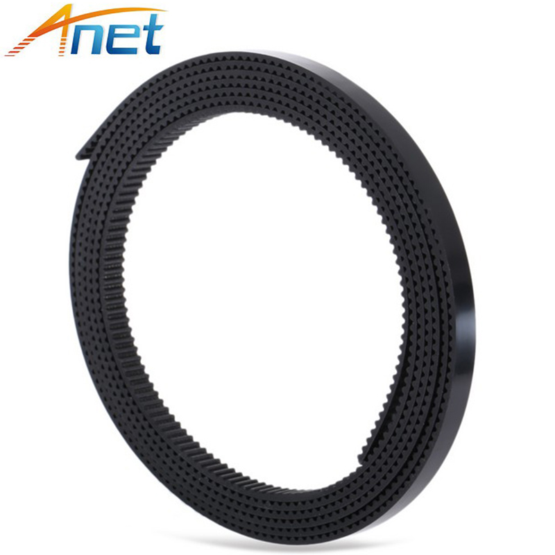 100 Meters GT2 Open Timing Belt Rubber PU Width 6mm Synchronous Opening Belts Part For RepRap 3D Printers Parts 2GT-6mm Black lucky john