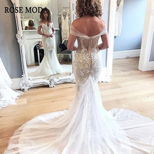 Rose Moda Cap Sleeves Mermaid Wedding Dresses Dress with