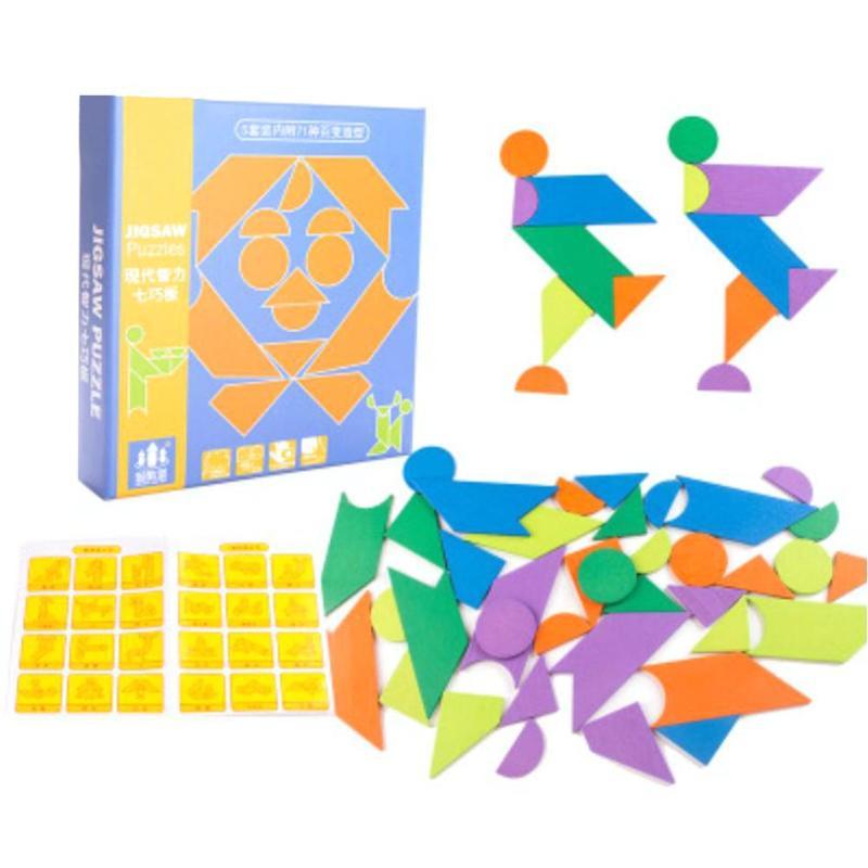 DIY деревянные головоломки Детская интеллектуальной деревянные головоломки дошкольных образовательных игрушки