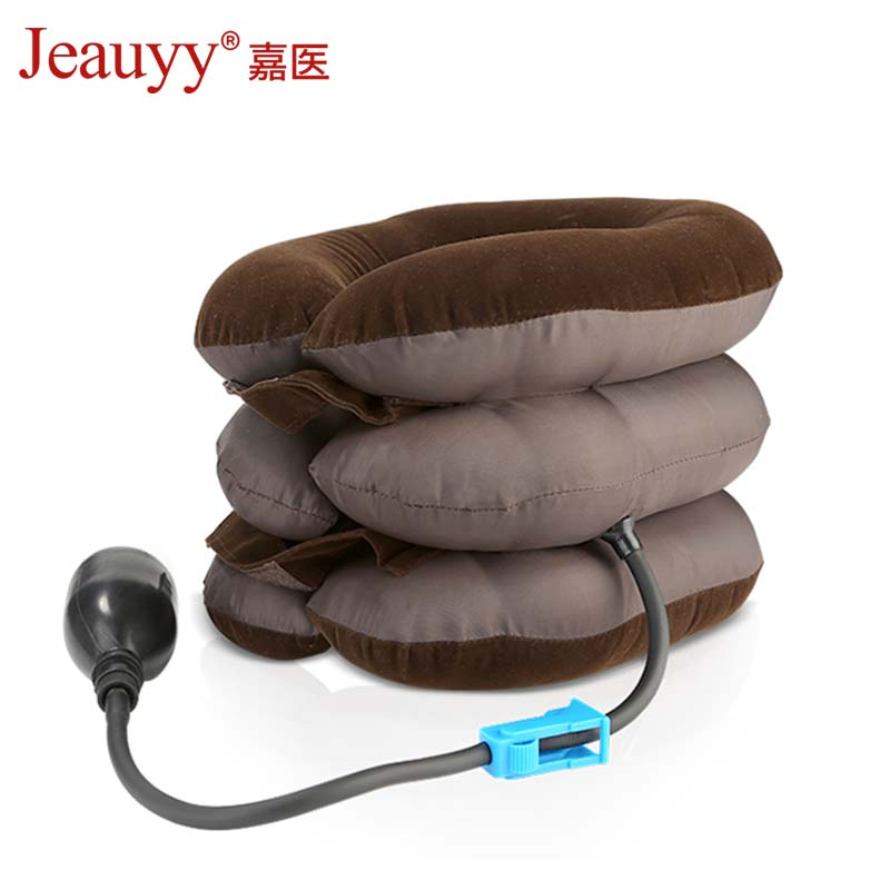 Inflatable Cervical Neck Traction Collar Neck Stretching Massage Brace Support Therapy Cushion Orthopedics Medical Pain Relief medical neck support orthosis adjustable cervical collar device fixed traction braces vertebra rehabilitation head protection