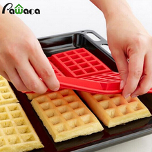 4-Cavity Waffles Cake Mold Silicone Chocolate Pan Microwave Baking Molds DIY Waffles Cookies Makers Muffin Mould Tools Forms