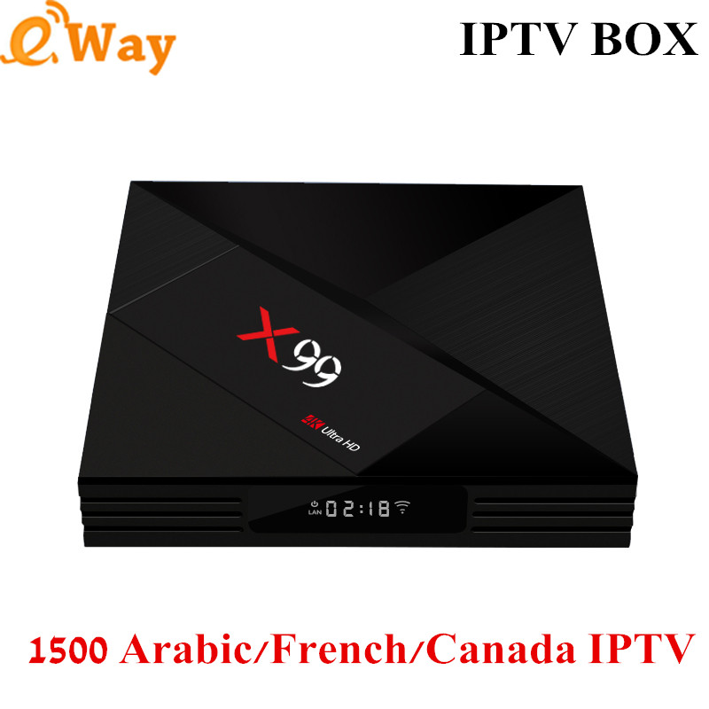 1 Jaar Franse Iptv Rusland Arabisch Iptv Steptv X99 4g 64g Android 7.1 Tv Box 4 K Wifi Media Player Frankrijk Smart Ip Tv Box Geurige (In) Smaak