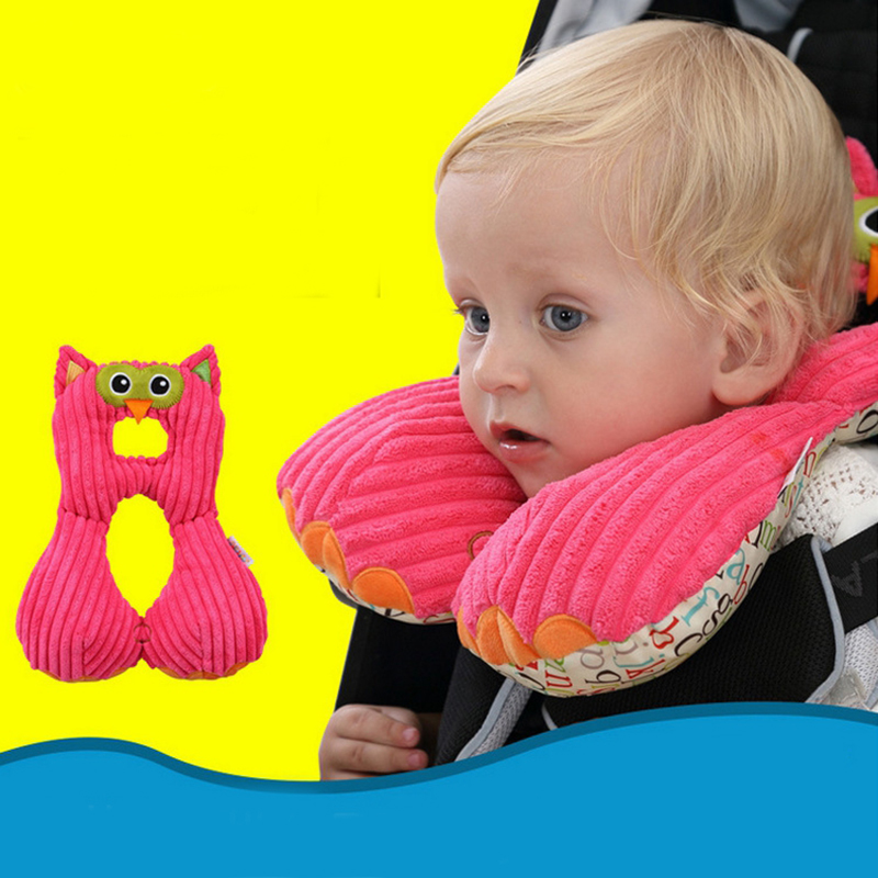 travel friends total support headrest travel car seat adjustable neck pillow kids neck cushion u shape neck pillow in body pillows from home garden on