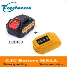 20V 4000mAh Power Tools Batteries Replacement Cordless for Dewalt DCB181 DCB182 DCD780 DCD785 DCD795 USB Power