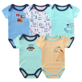 5pcs/lot Summer Baby Bodysuit Cotton Short Sleeve Overalls Clothing for Body Baby Clothes Girls Boy Bodysuits Infant Clothing