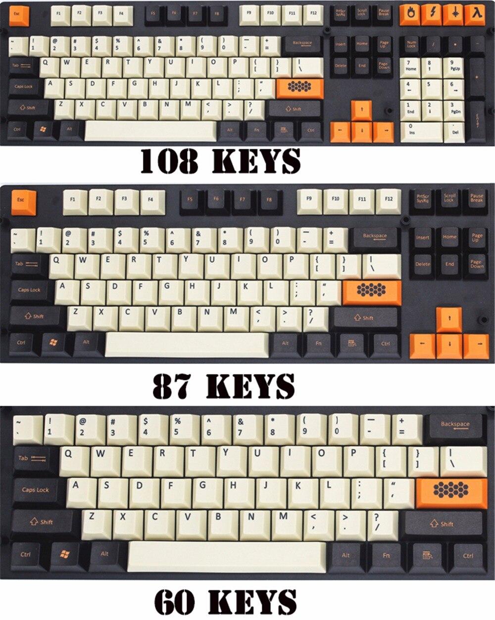 Углерода 108/125 ключи pbt Вишневый Оригинальный высота Keycap dye-сублимируется клавиши для механической клавиатуры