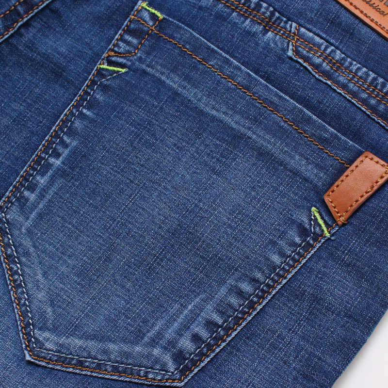 Jantour Marke Mens 2018 Sommer Stretch Dünne qualität Denim Jeans männliche Kurze Männer blau Denim Jean Shorts Hosen großen Größe 40 42 neue