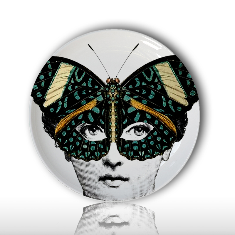 wholesale 2018 fashion style Milan Fornasetti Plates decorative wall hanging craft plates for home/hotel/hall/Restaurant decor