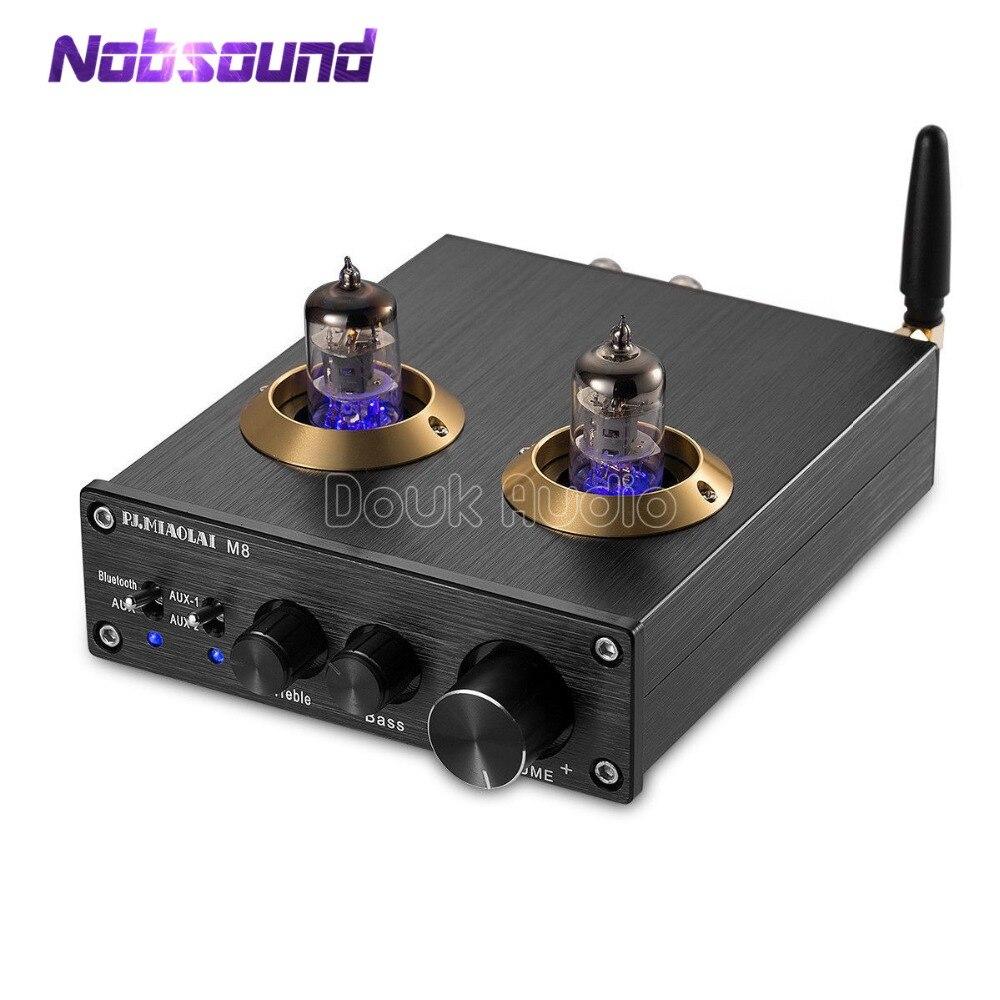 2018 Dernière Nobsound Bluetooth 4.0 HiFi Vide 6J1 Tube Amplificateur Numérique de Classe D HiFi Stéréo Amplificateur De Puissance Intégré Audio Domestique