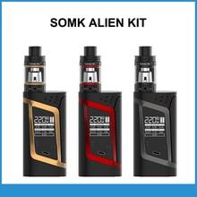 Original smok elektronik sigara extranjero kit 220 w mod box 3 ml tfv8 bebé tanque vaporizador cigarrillo electrónico vape kit