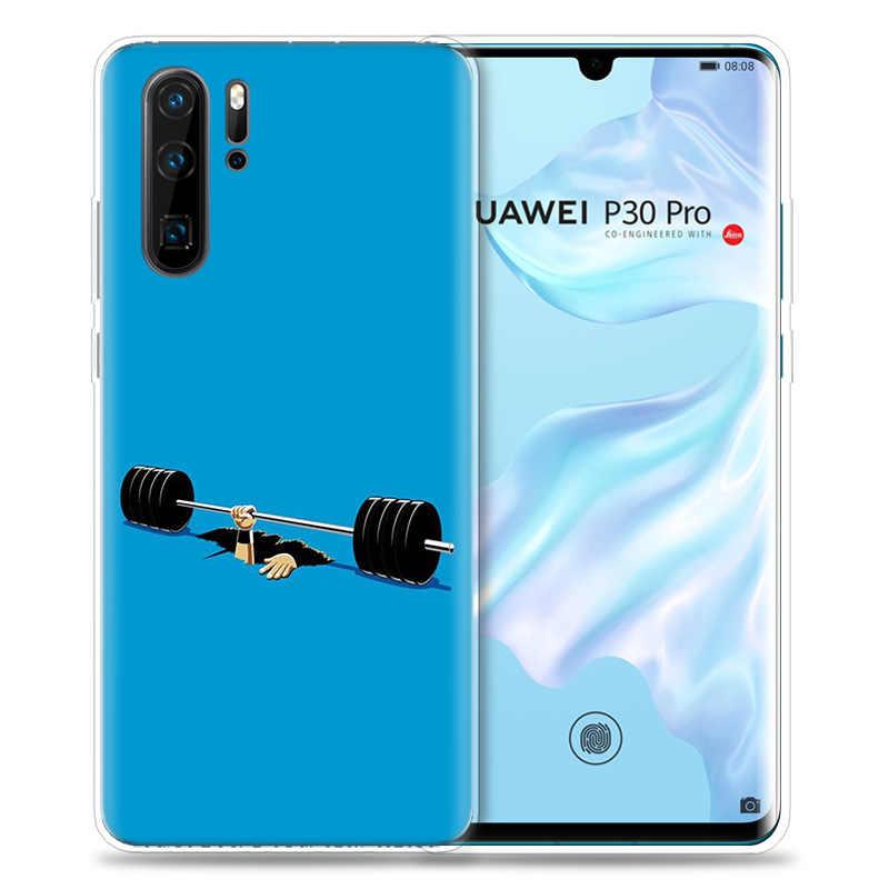 Case for Huawei P30 P20 P10 P9 Mate 10 20 Lite Pro Mobile Cell Phone Bag P Smart Z 2019 Plus Bodybuilding Gym Fitness P8 P30Pro