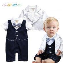 Комплекты для малышей, одежда для малышей, комплекты из двух предметов для маленьких мальчиков, костюмы+ комбинезоны, хлопковые торжественные комплекты для малышей, горячая распродажа, в английском стиле, 70-95 см