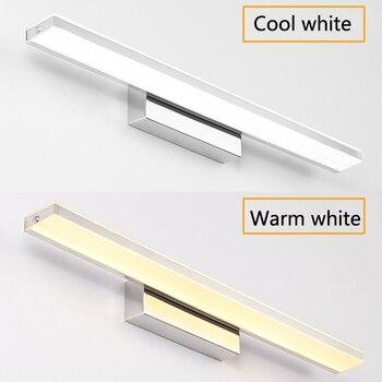 LED Spiegel Licht 42-72 Cm 9 W/12 W/14 W/16 W AC110-240V Wasserdicht Moderne Kosmetische Acryl Wand Lampe Für Badezimmer Licht Leuchte Lampe