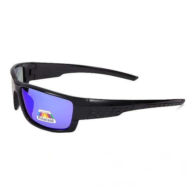 Polarized Sports Black Frame UV400 Sunglasses for Men