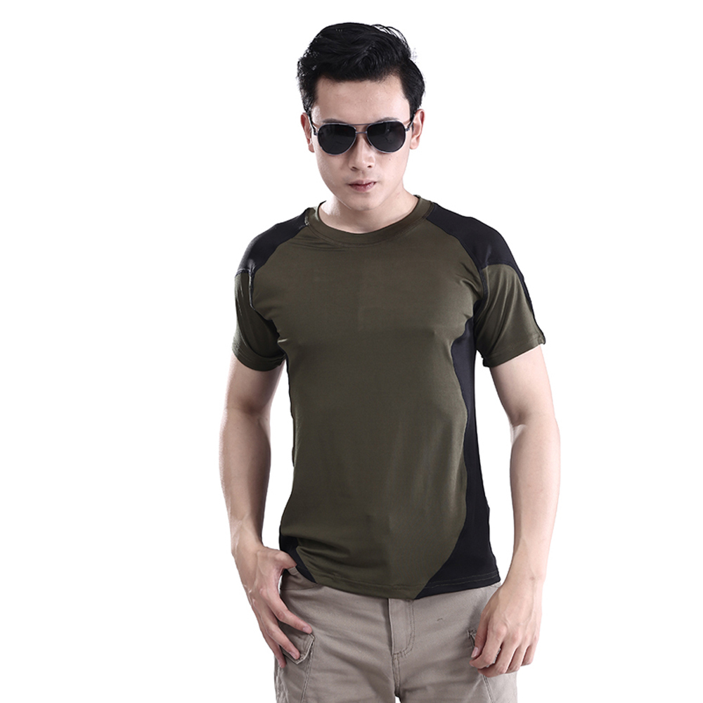 Army T-shirt ,ESDY Summer Short Sleeve O-Neck Men Sport T shirt Outdoor Wear Quick Dry Military Tactical Combat Camp Tops&Tees  цена и фото
